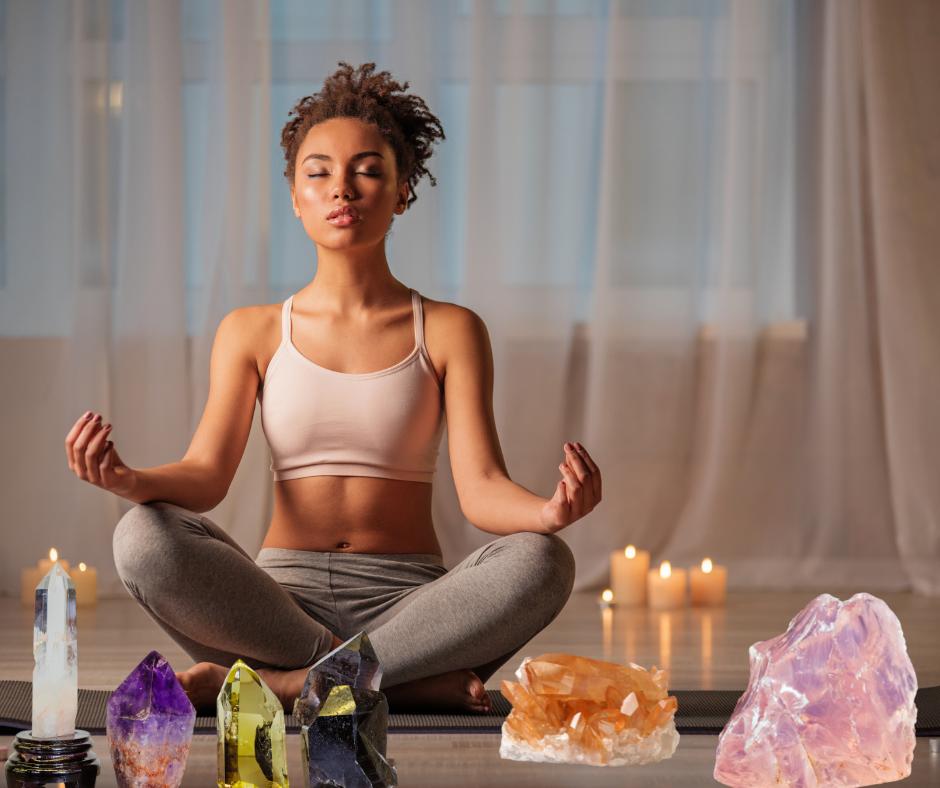 meditar con cuarzos